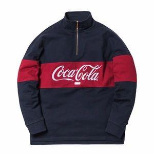 Kith x Coca-Cola Quarter-Zip Rugby Navy